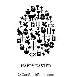 Egg of Easter symbols