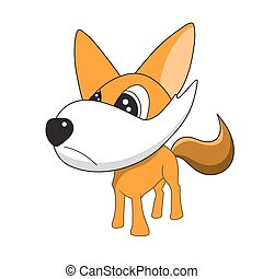 vector illustrations of fox cartoon on a white background.