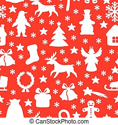 Christmas symbol pattern seamless