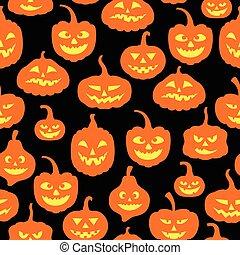 Halloween pumpkins pattern seamless