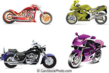 vector illustrations of motorcycle