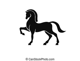 Vector illustrations of proud horse