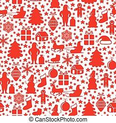 Christmas symbols pattern seamless
