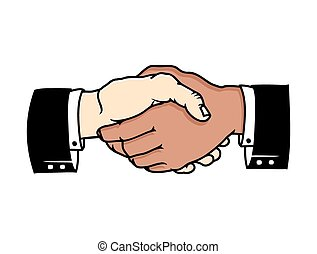 Bussines handshake - Vector illustrations of the Bussines ...