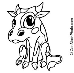 Vector illustrations of the cow