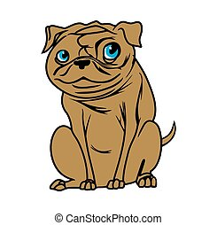 Vector illustrations of the dog