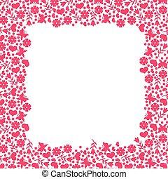 Valentines day greeting frame