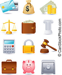 Finance icon - Vector illustratioon - Finance icon set