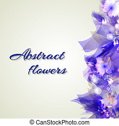 Abstract artistic Background with purple floral element