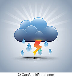 Rainstorm - Vector Illustrator Rainstorm