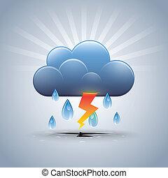 Rainstorm - Vector Illustrator Rainstorm