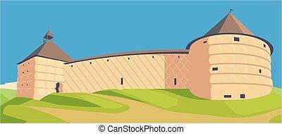 Vector illutration fortness. castle - Vector illustration...