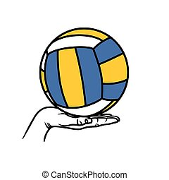 Vector illutration of the volleball