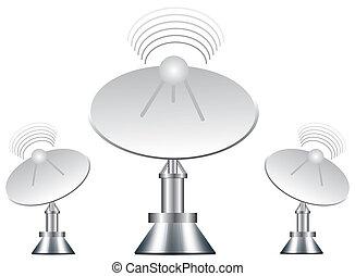 vector, ilustración, antena