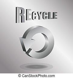 vector, ilustración, de, 3d, flechas, logotipo, design.