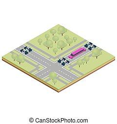 vector, ilustración, de, limusina, coche
