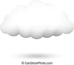 vector, ilustración, de, nube