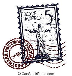 vector, ilustración, de, solo, aislado, brasil, icono