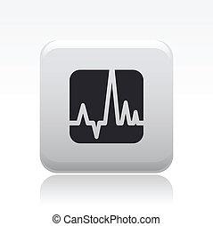 vector, ilustración, de, solo, aislado, onda, icono