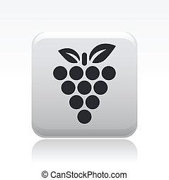 vector, ilustración, de, solo, aislado, uva, icono