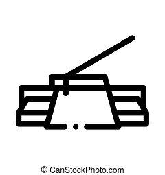 vector, ilustración, icono, contorno, cuchillo, masilla