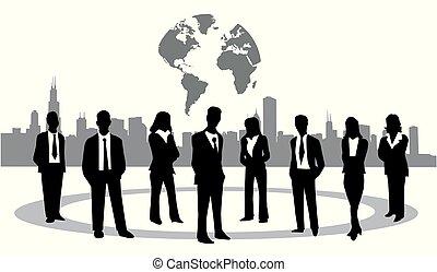 vector, ilustración negocio, gente