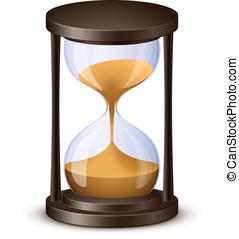 vector, ilustración, reloj de arena