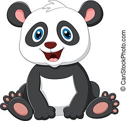Cute panda cartoon - vector ilustration of Cute panda...