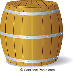 Vector image barrel - Vector illustration of a wooden barrel...
