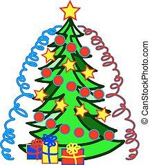vector image Christmas trees