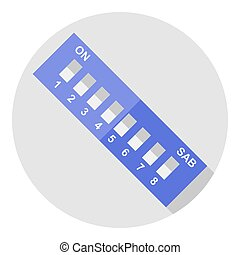Vector image dip switch