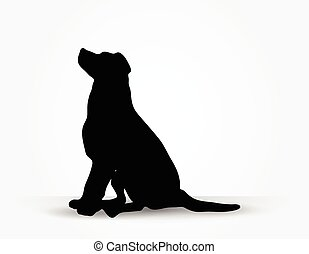 dog silhouette - Vector Image - dog silhouette in default ...