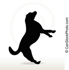 Vector Image - dog silhouette isolated on white background