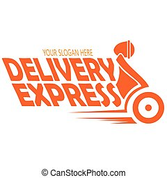 vector image express delivery logo template