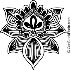 Vector image for adult coloring book Mandala Doodle illustration