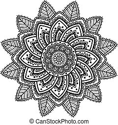 Vector image for adult coloring book Mandala Doodle illustration