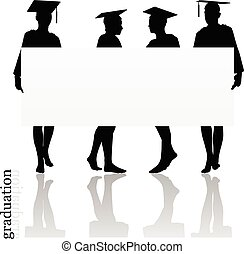 girl silhouette in a gown - Vector Image - girl silhouette...