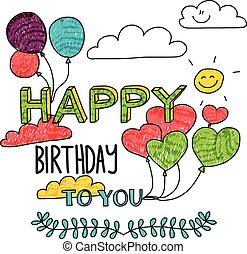 Vector image Happy birthday.
