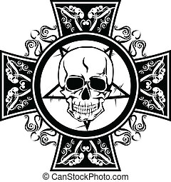 skulls in cross