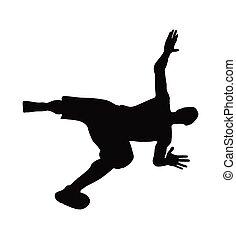 man silhouette in falling pose - vector image - man ...