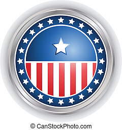 vector image of a badge with stars and stripes - Digitally...