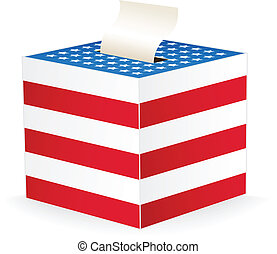 vector image of a ballot box