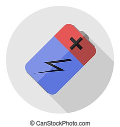 Vector image of a battery