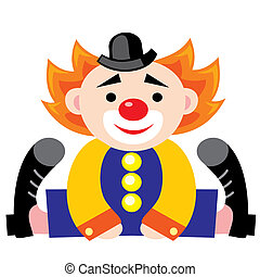 clown - vector image of a clown. Children's toy in the form ...