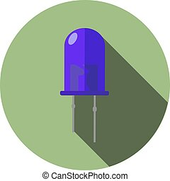 Vector image of a dark blue LED