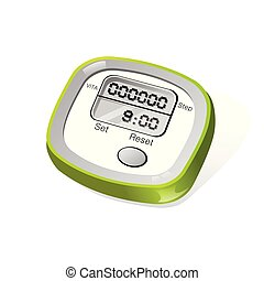 Vector image of a digital meter