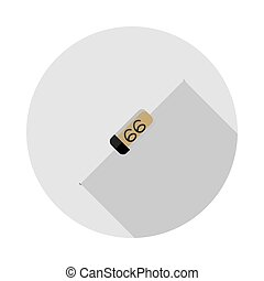 Vector image of a diode