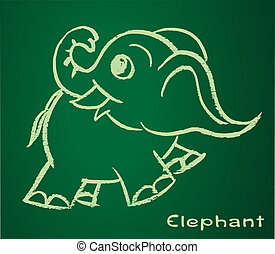 Vector image of a elephant