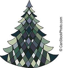 vector image of a fir