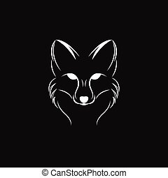 Vector image of a fox design on a black background
